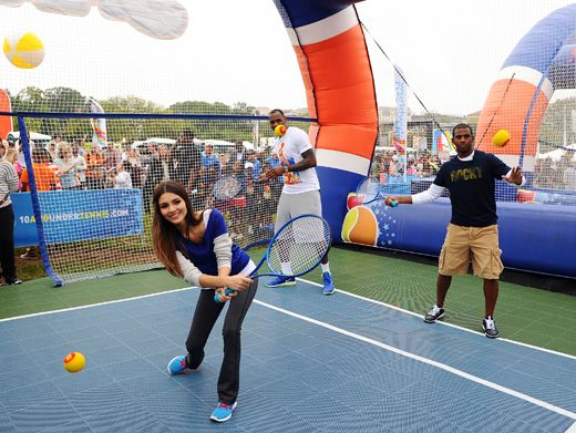Acing the Competition|Victoria Justice is serving up a storm at this year's Worldwide Day of Play.