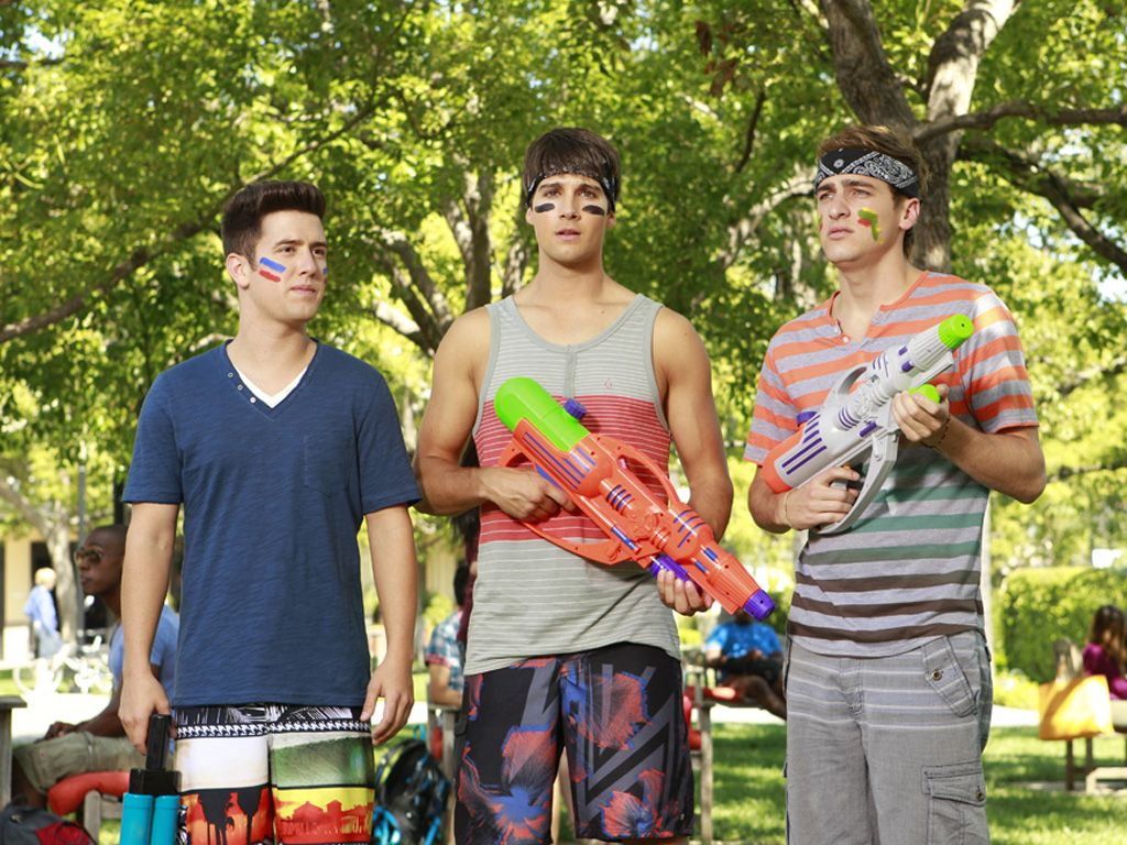 Super Soakers|When the warpaint is on and the waterguns are out, you know these guys are serious!