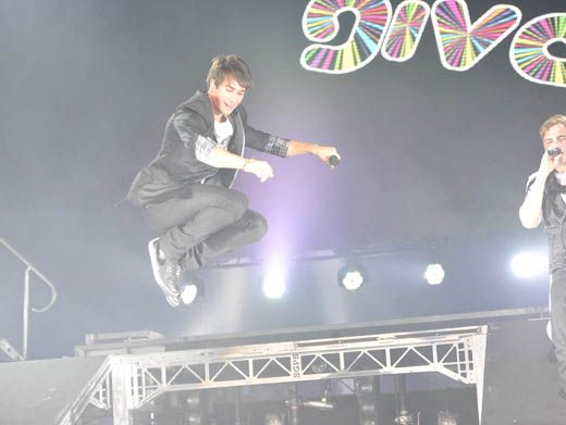 High Jump|Is James getting major air or did someone flip the anti-gravity switch?? Either way this looks pretty cool.