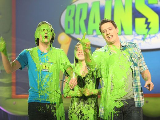 Going Slime Blind|It looks like Matt Bennett might have a hard time finding his way out with his glasses all coated in goo!
