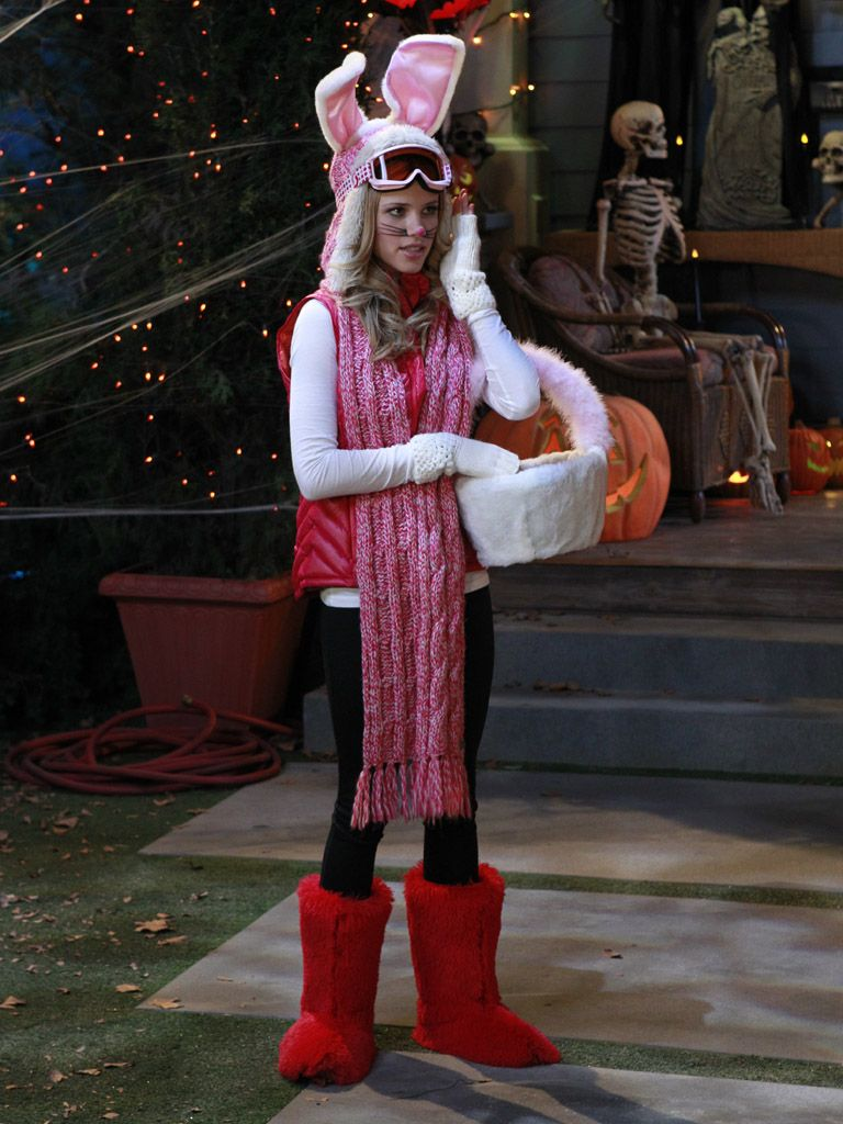 Ski Bunny|It's Halloween, not Easter! And not winter just yet! But Grace still rocks the confused costume like a star.