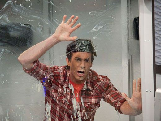 Soapy Struggle|It looks like Spencer got in a serious fight with some shower suds. Um, Spence? Are you okay?