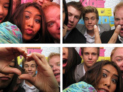 Buckets of Fun|The cast of Bucket & Skinner were cracking us up in these hilarious photo booth pics. Just look at Ashley Argota's face! LOL!