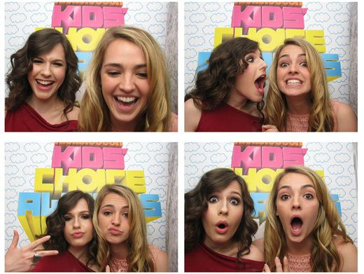 Gal Pals|Erin Sanders snaps some more funny photos with her BFF Katelyn Tarver in the Orange Carpet photo booth.