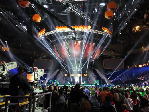 KCA 2012: The Mothership|How did we not notice a giant alien spaceship landing in the middle of the show? Oh wait! That's just the set!