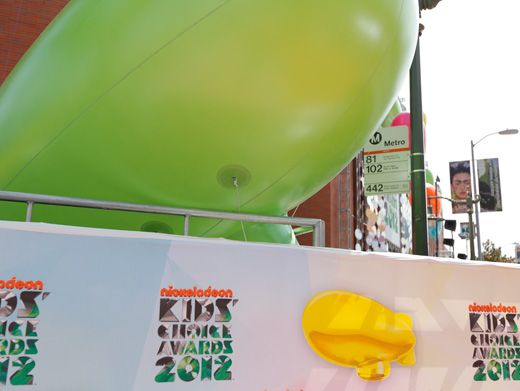 Going Green|This year, there aren't only Orange Blimps, but there's slime-green colored ones, too!
