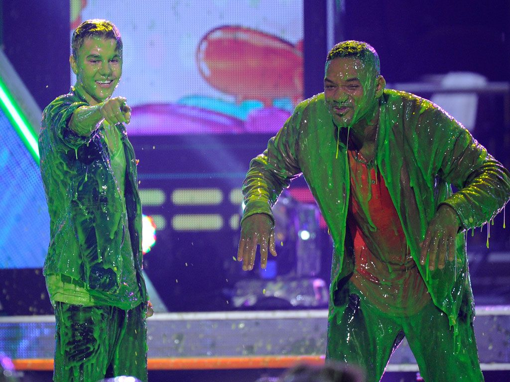 Slime Cools Down Bieber Fever|Yup, you got us! We did super-slime you! And it was AMAZING.