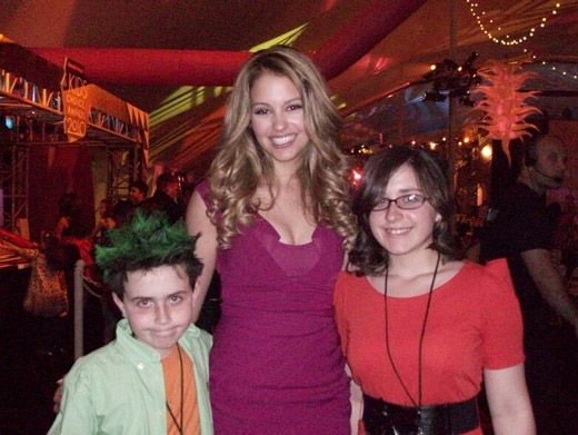 Gage Golightly, Megan & Her Bro|Megan and her bro got to meet all the stars.