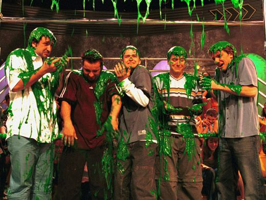 5-alarm Sliming!|'N Sync ='N Slimed at the '01 KCAs. Who knew that Justin Timberlake would one day be host?