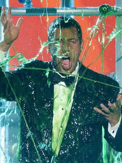MSA! (Major Slime Alert)|Adam Sandler wishes he could rewind time (like he did in <i>Click</i>) at the '02 KCAs.