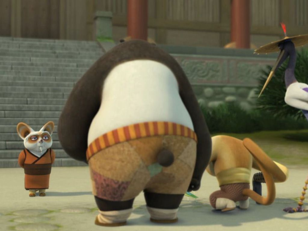 kung fu panda po and shifu training