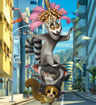 Julien, Maurice & Mort Picture - Madagascar 3: Europe's Most Wanted