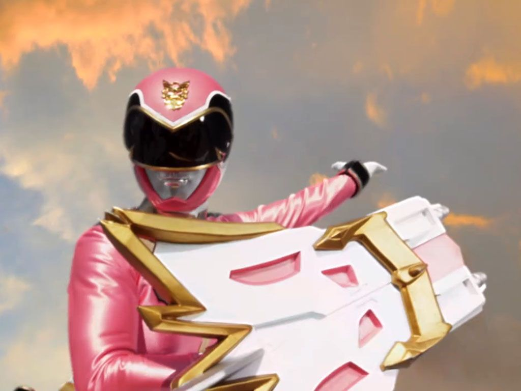 PINK RANGER|Emma Goodall is one bad alien blaster.