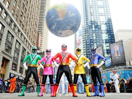 The World is Ours!|The Samurai Power Rangers make their first ever appearance at the 84th Annual Macys Thanksgiving Day Parade!