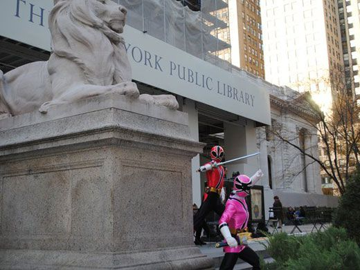 Bookworms|The Rangers snuggle up with a good book at the New York Public Library!