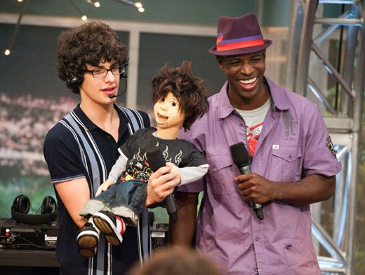 Puppet Master|Matt Bennett and Rex get pumped for the ultimate rap battle. Go Rex!