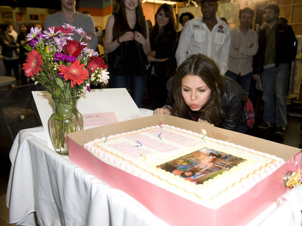 Make a Wish!|The birthday girl blows out her candles on set. What are you wishing for, Victoria?