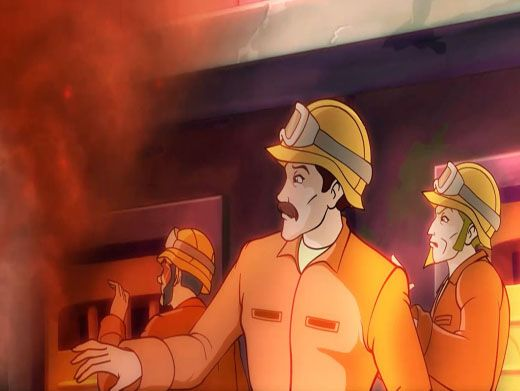 Burning Up|The workers need the help of both the Winx Club and the Specialists or they're in big trouble! But will they be able to get through all the smoke and flames?